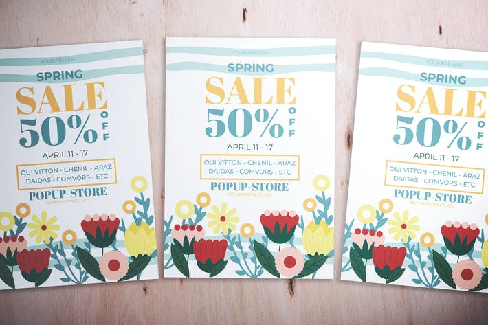 Cover Image For Spring Sale Flyer