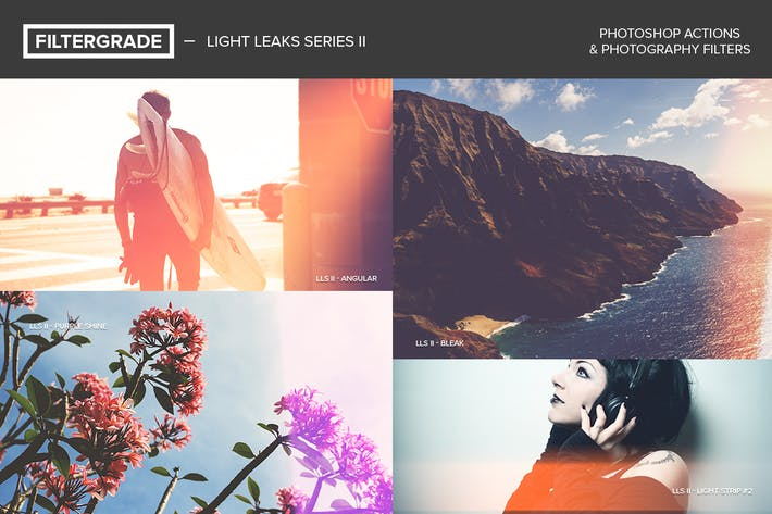 Thumbnail for FilterGrade Light Leaks Photoshop Actions S2