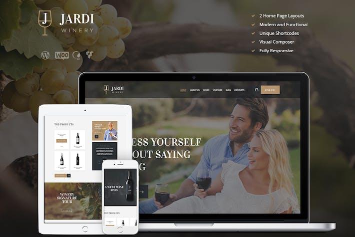 Thumbnail for Jardi | Winery, Vineyard & Wine Shop WordPress The