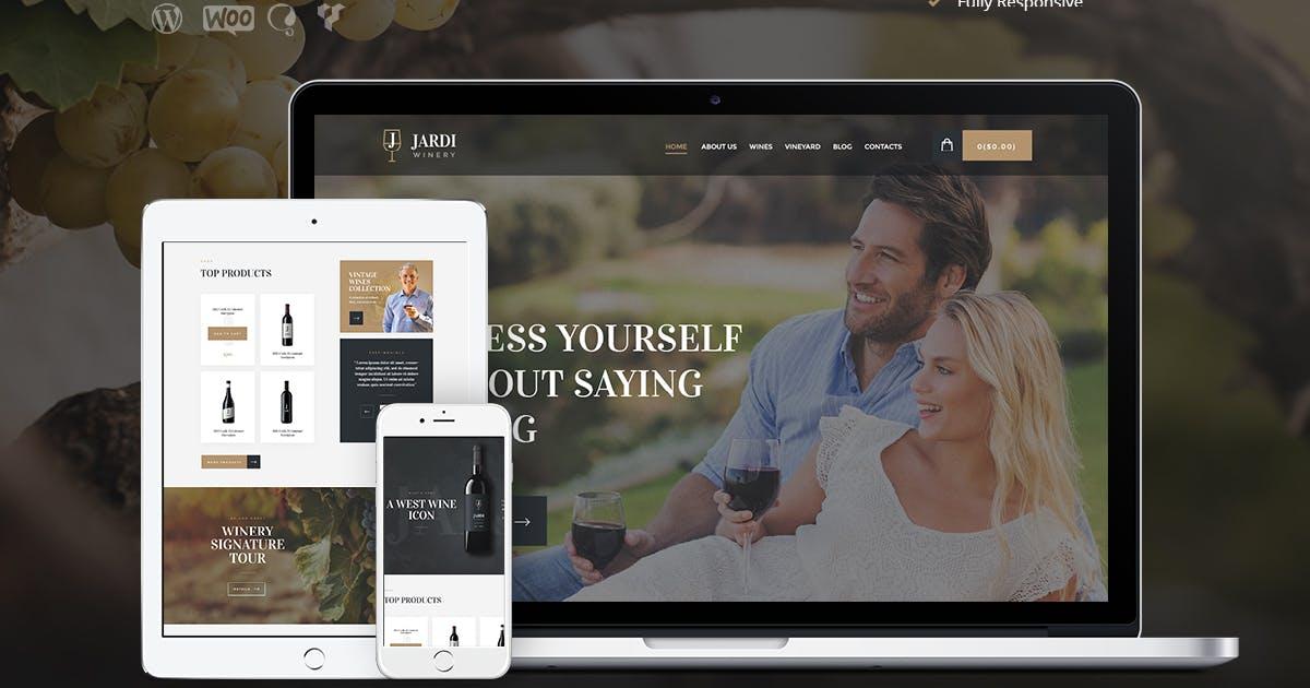 Download Jardi   Winery, Vineyard & Wine Shop WordPress The by AncoraThemes