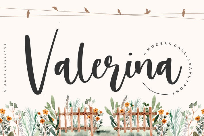 Thumbnail for Valerina YH - Modern Calligraphy Font