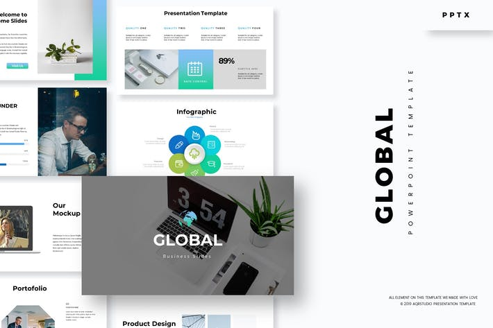 Thumbnail for Global - Powerpoint Template