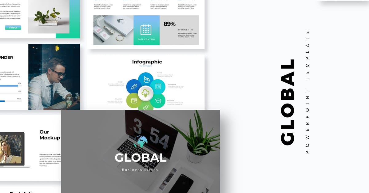 Download Global - Powerpoint Template by aqrstudio