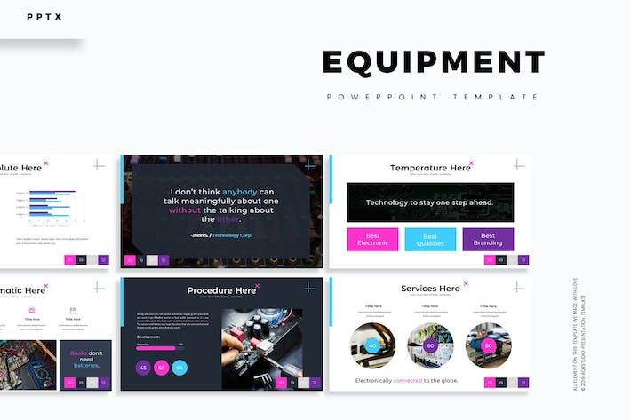 Оборудование - Шаблон Powerpoint