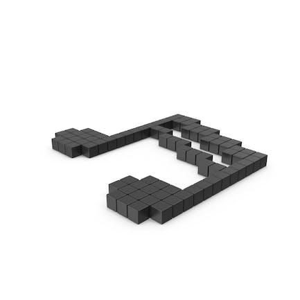 Pixelated Musical Notes Icon