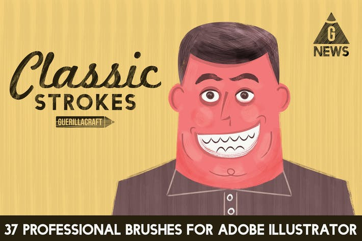 Thumbnail for Classic Strokes for Adobe Illustrator