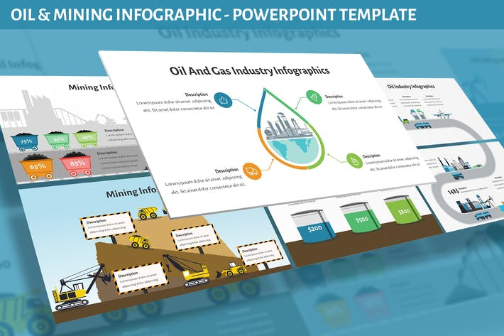 Oil and Mining Infographic for Powerpoint