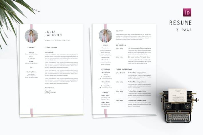 Thumbnail for Julia Jackson Resume Designer