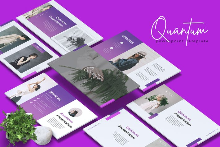 Thumbnail for QUANTUM - Company Profile Powerpoint Template