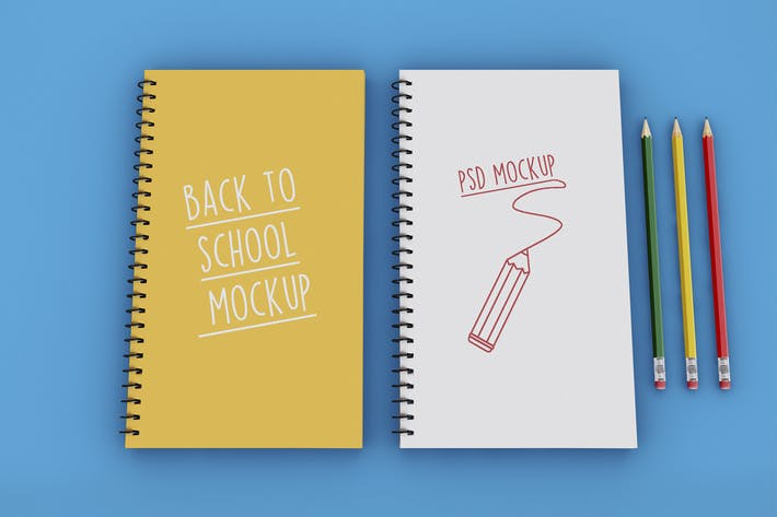 Thumbnail for Back to School on Notebook Mockup