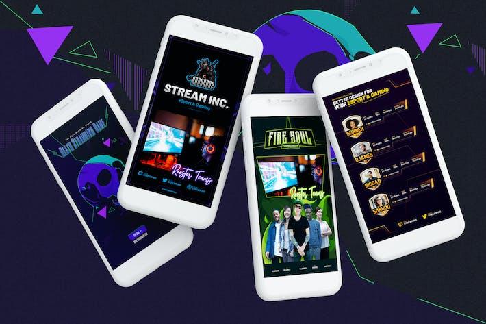 Thumbnail for Modèle PSD Histoires eSport & Gaming Instagram