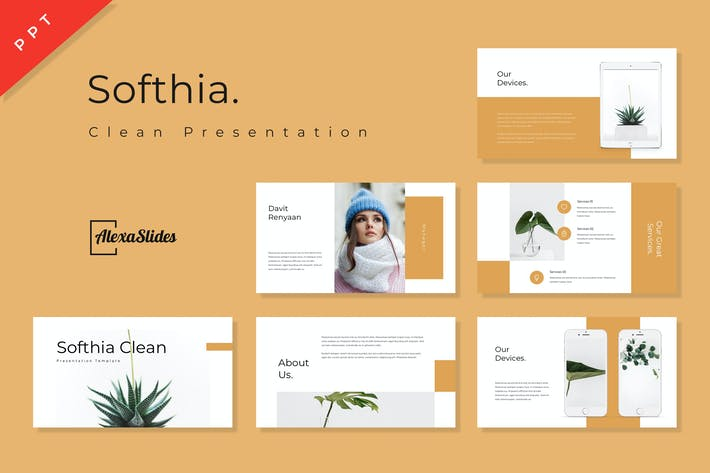 Thumbnail for Softhia - Clean Powerpoint Presentation Template