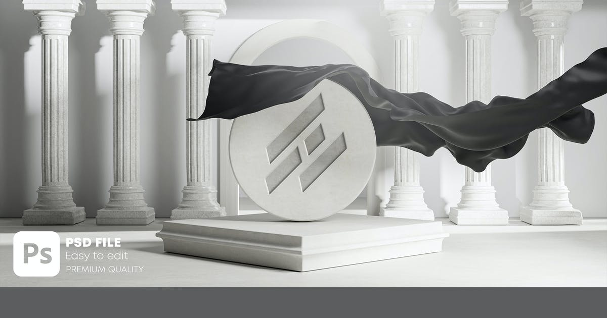 Download Carved Logo Mockup Unveil Black Cloth Cover by Nmotion