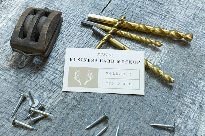 Thumbnail for Rustic Business Card Mockup Vol. 5