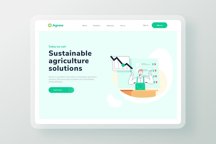 Thumbnail for Agriculture Business Market Low Landing page
