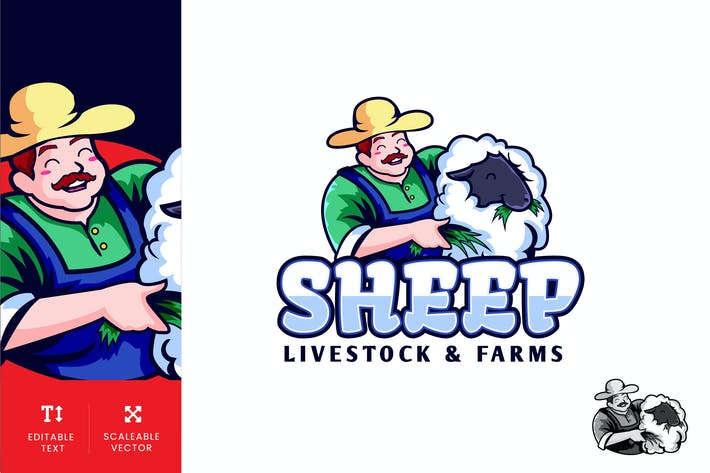 Thumbnail for Sheep Farm Logo Illustration Vector