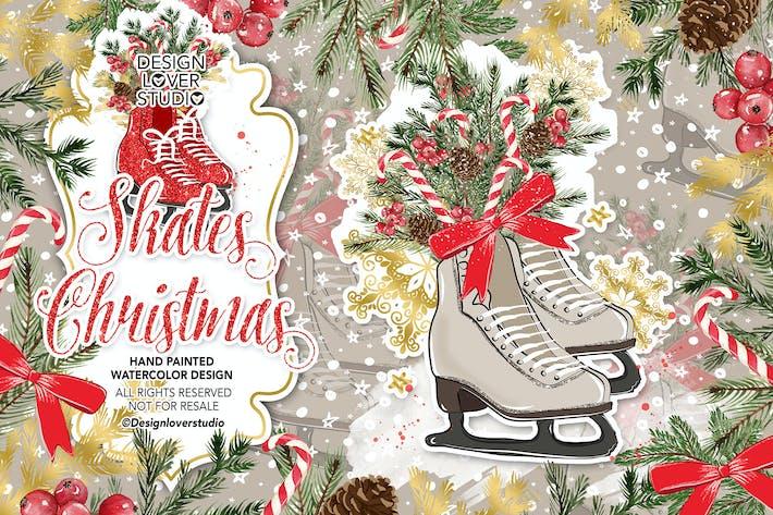 Thumbnail for Diseño de patines Navidad.