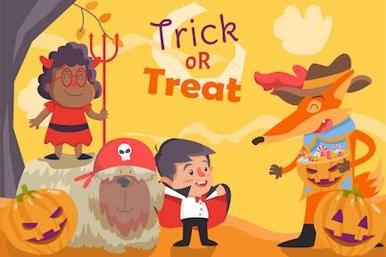 Хэллоуин - Вектор иллюстрация