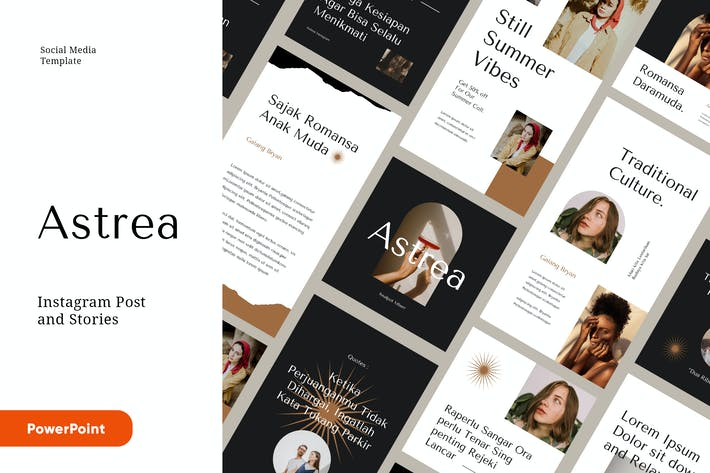 Thumbnail for ASTREA - Fashion Instagram Kit Powerpoint Template