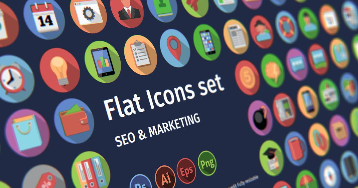 Download Flat icons: SEO & MARKETING by TIT0