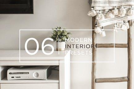 6 Modern Interior Lightroom Presets