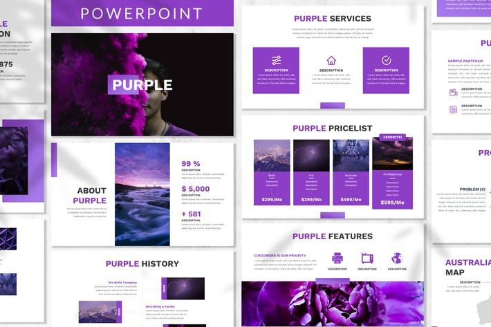 Thumbnail for Purple - Business Powerpoint Template