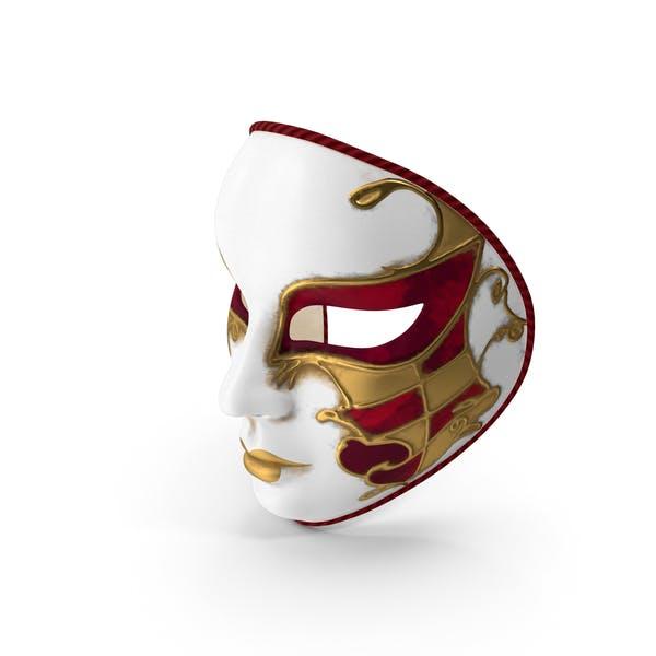 Red Full Face Carnival Mask