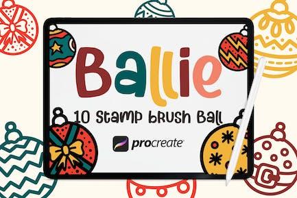Ballie - 10 Кисти для шариковых штампов
