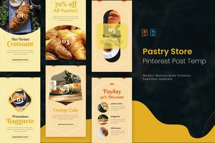Pastry Store | Pinterest Post Template