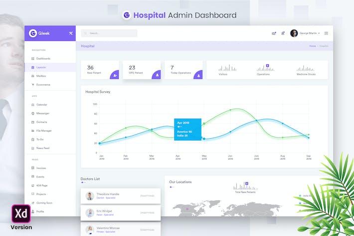 Thumbnail for Hospital Admin Dashboard UI Kit (XD)