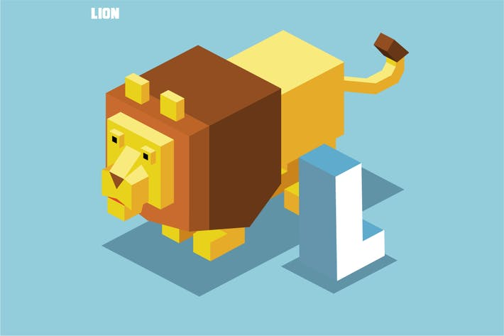 Thumbnail for L for Lion. Animal Alphabet