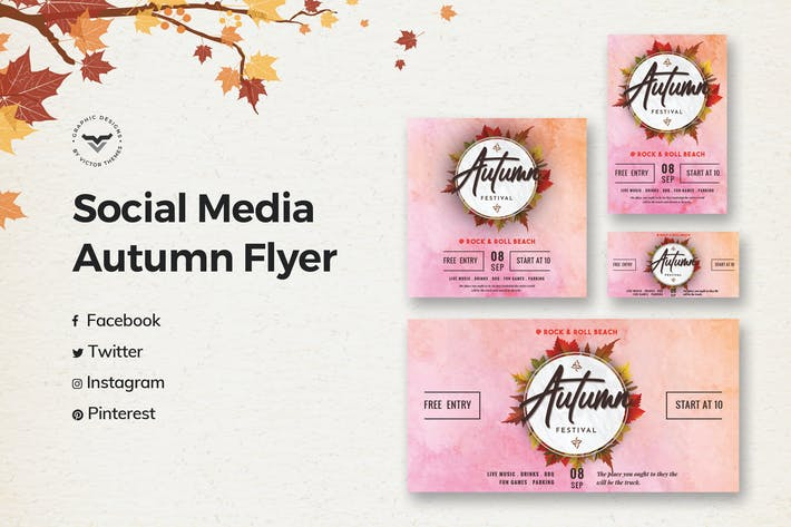 Thumbnail for Autumn Social Media Template