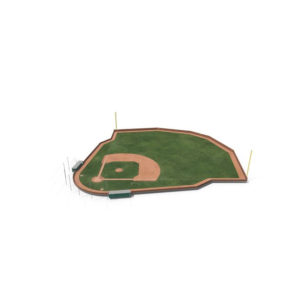 Baseball Field with Brick Wall