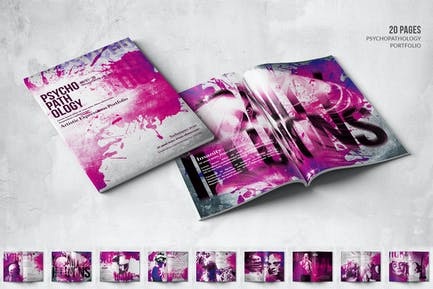 Artistic Portfolio - A4 & US Letter - 20 Pages