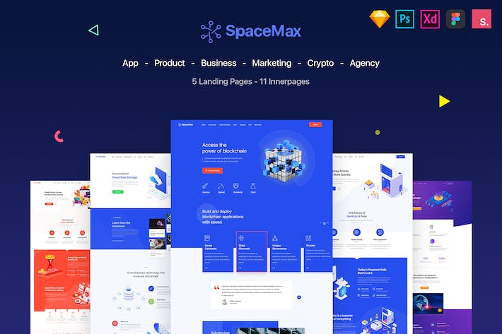 Thumbnail for SpaceMax - Multipurpose Landing page