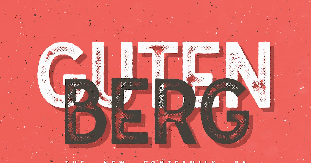 Download Gutenberg - Font Family by UnioCS