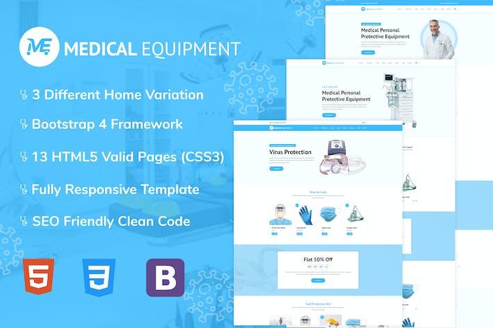 Thumbnail for Medical Equipment - PPE Kit HTML Template