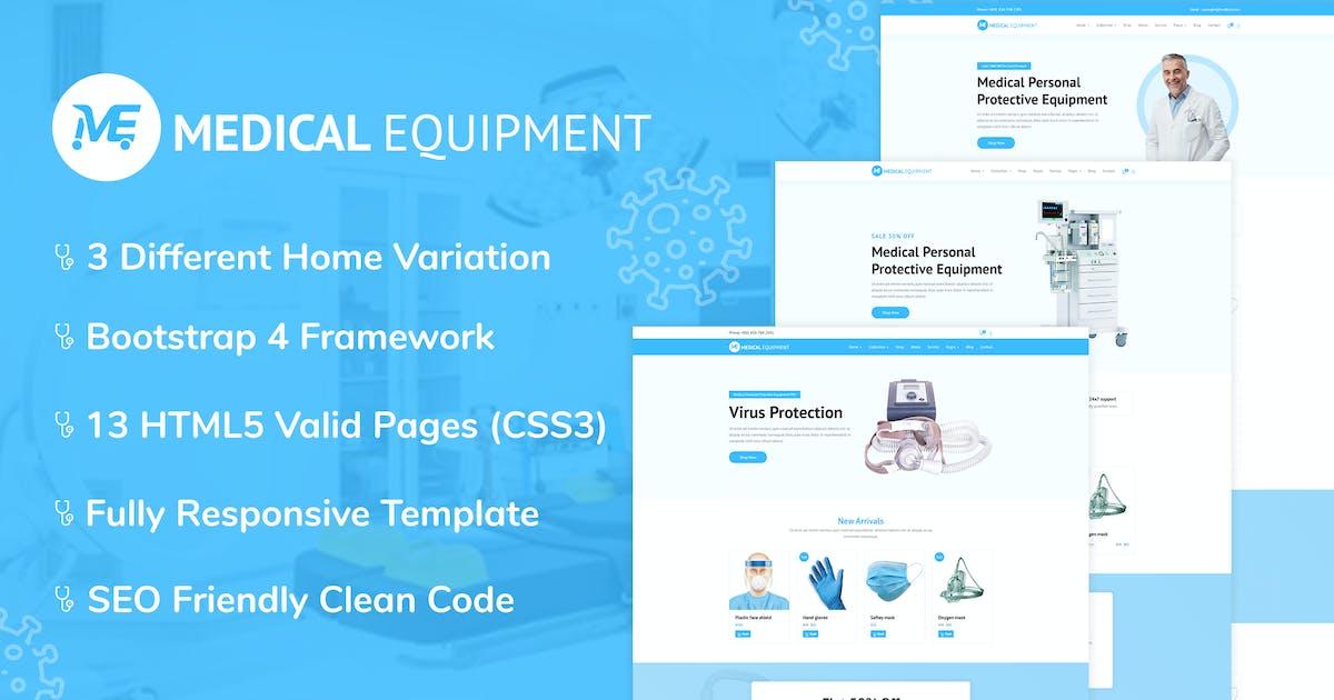 Download Medical Equipment - PPE Kit HTML Template by kamleshyadav