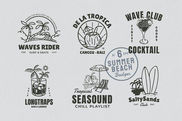 Thumbnail for 6 Sommer-Strandabzeichen
