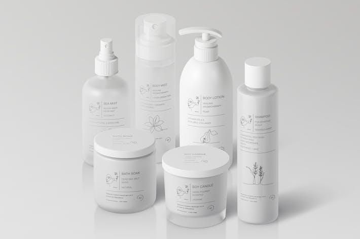 Thumbnail for Natural Cosmetic Packaging Mock-Ups Vol.4