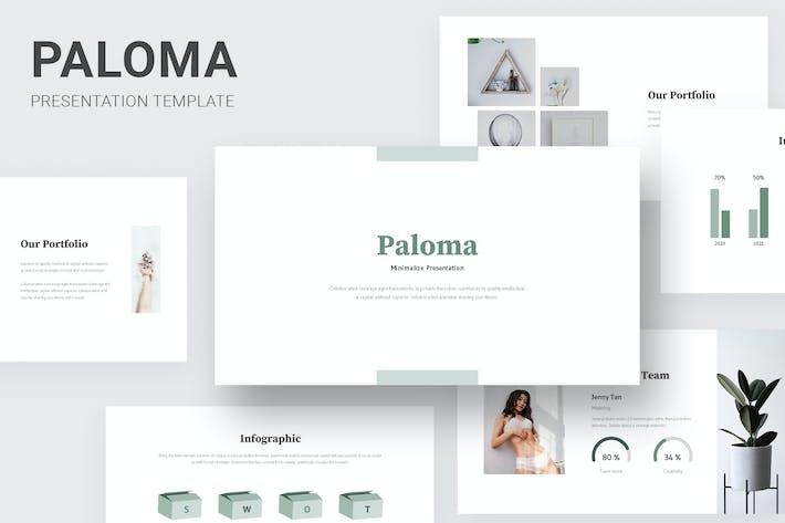 Thumbnail for Палома - Минималистский стиль Powerpoint