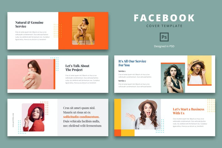 Thumbnail for Facebook-Cover-Vorlage Kreatives Geschäft
