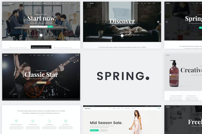 Thumbnail for Spring - Multipurpose Website Templates