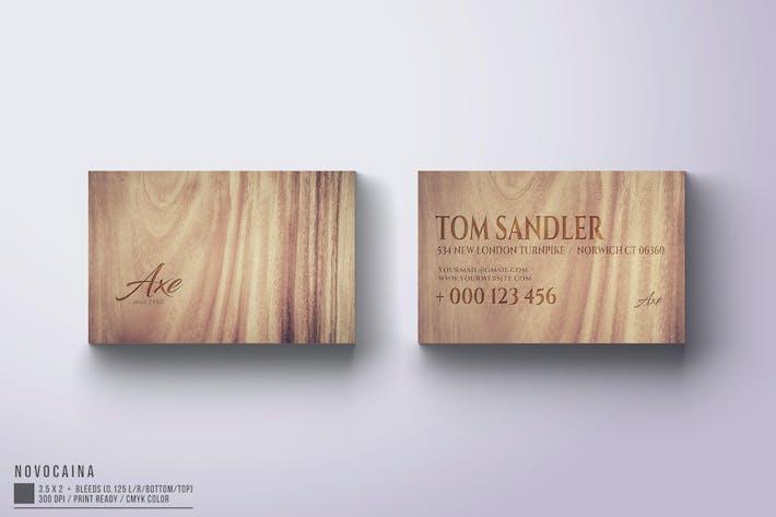 Thumbnail for Axe Business Card Design