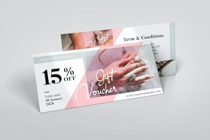 Thumbnail for Wedding AI and PSD Gift Voucher