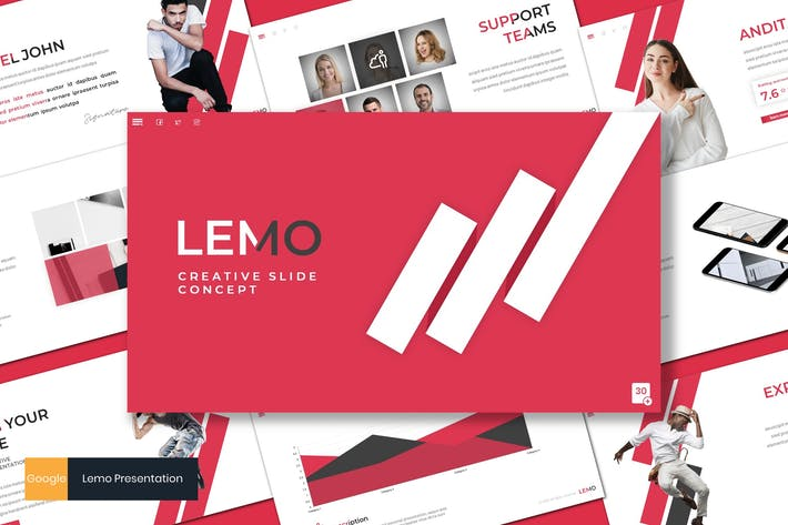 Thumbnail for Lemo - Творческий Шаблон слайдов Google