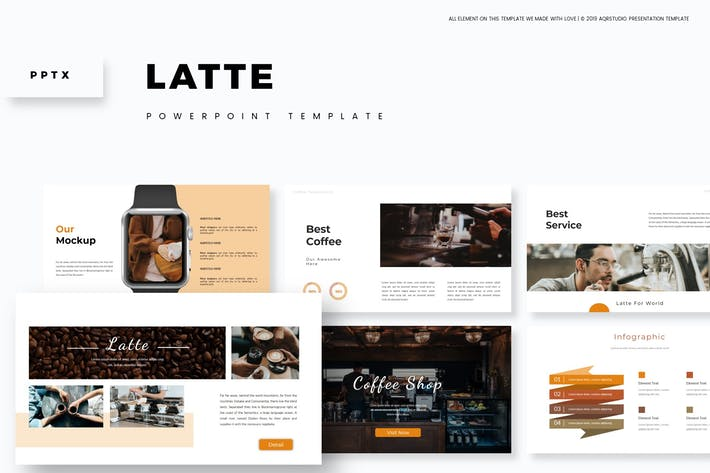 Thumbnail for Latte - Powerpoint Template