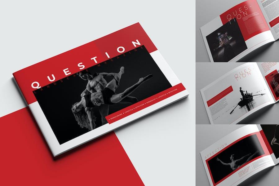Question Landscape Magazine Template - product preview 0