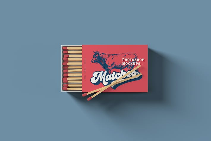 Thumbnail for Matches Box Mockups
