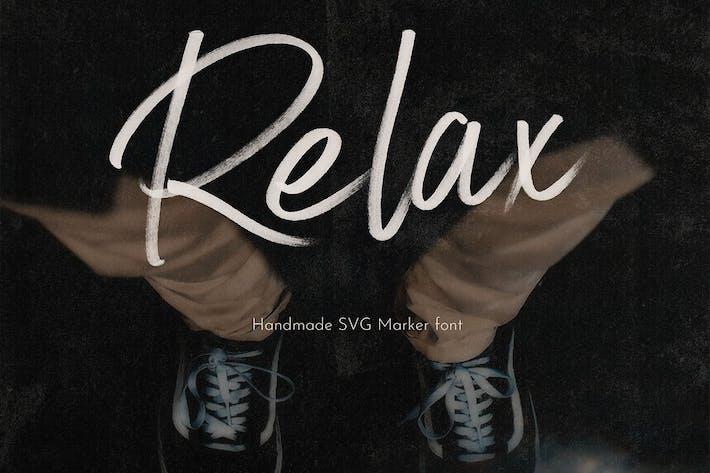Relax Police de script du marqueur SVG